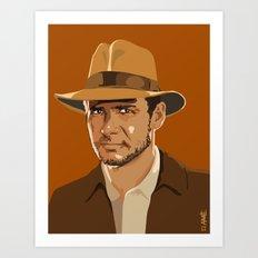 Indiana Jones Art Print