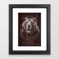 DARK BEAR Framed Art Print