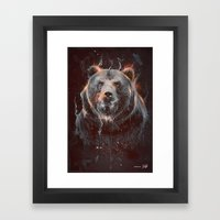 DARK BEAR Framed Art Print
