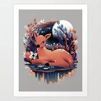 The Red Deer Art Print