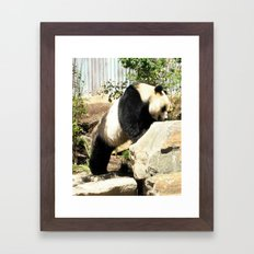 Wang Wang - Moving a Mountain Framed Art Print