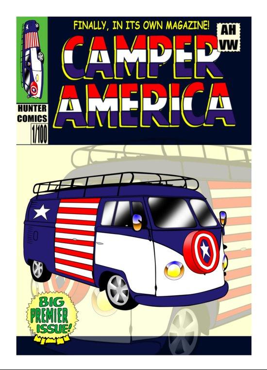 Camper America Art Print