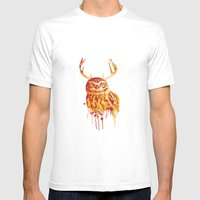 Owlope Stripped Mens Fitted Tee White SMALL