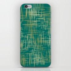 Crosshatch Emerald iPhone & iPod Skin