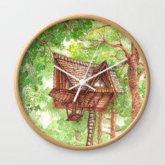 Treehouse Retreat Wall Clock