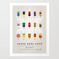 My SUPERHERO ICE POP- UN… Art Print