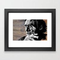 Hank On Wood Framed Art Print
