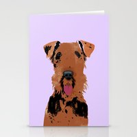 Airedale Terrier Dog Stationery Cards