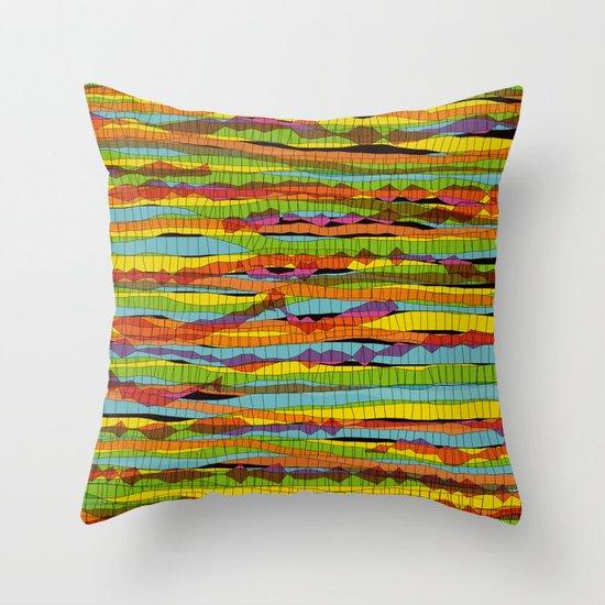 patterns - spaghettis 1 Throw Pillow