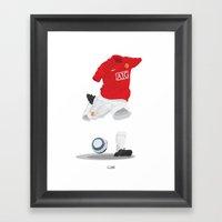 Manchester United 2007/0… Framed Art Print