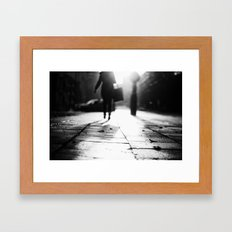Light Shopping Framed Art Print