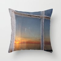 Window Sunset  Throw Pillow