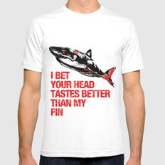 Your head tastes better Mens Fitted Tee SMALL White