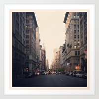 Barren City Street, NYC Art Print