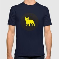 Bulldog Mens Fitted Tee Navy SMALL