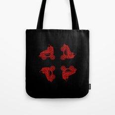 Roller Skates Red Tote Bag
