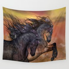 HORSES - On sugar mountain Wall Tapestry