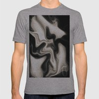 Cream Abstract Mens Fitted Tee Athletic Grey SMALL