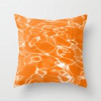 Orange Water Throw Pillow