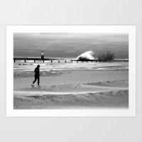Waves On Lake Michigan I… Art Print