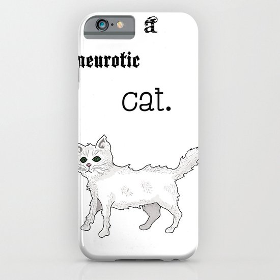 Neurotic Cat iPhone & iPod Case