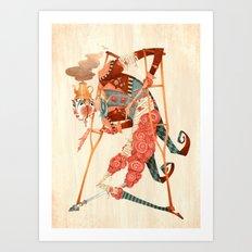 Cotton Candy Crutches Art Print
