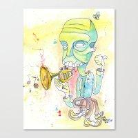 Jazzercise Canvas Print