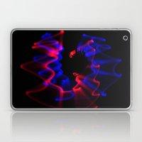 Swirl of Blue & Red Light Laptop & iPad Skin