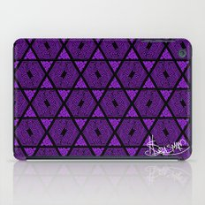 Kagome Greek Fret ... Purple iPad Case