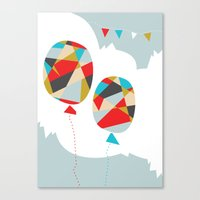 Celebrate Shapes  Canvas Print