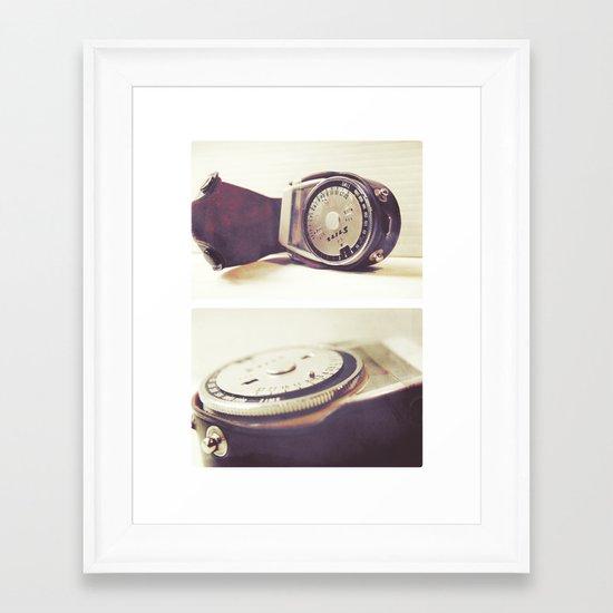 Vintage Stitz Light Meter Diptych Framed Art Print