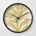 Gold Palms Wall Clock