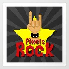 Pixels Rock Art Print