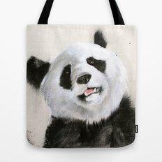 Laughing Pandas  Tote Bag