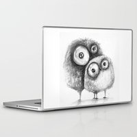 owls Laptop & iPad Skins featuring owls  by main