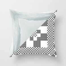 waves/grid #8 Throw Pillow