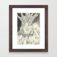 Litho Mecha Framed Art Print
