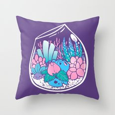 Starter Terrarium  Kit Throw Pillow