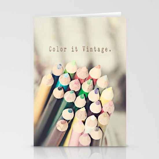 Color it Vintage Stationery Card
