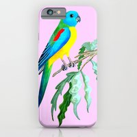 iPhone Cases featuring turquoisine grass parrakeet by giol's