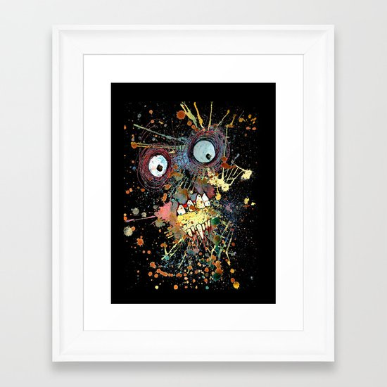 shocked in reverse Framed Art Print