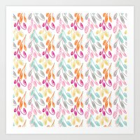 Smaller Colorful Swirls Art Print