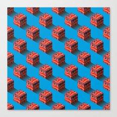 3D pixel city Canvas Print