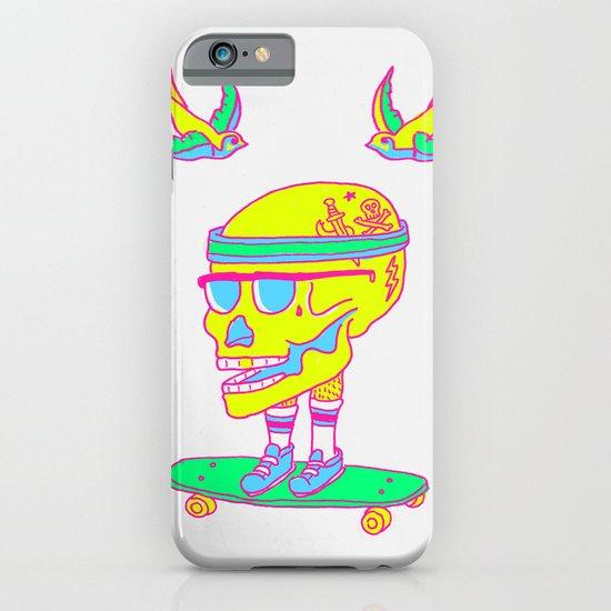 Skull on a skateboard iPhone & iPod Case