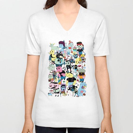 Die Geschichte der Gottlosen V-neck T-shirt