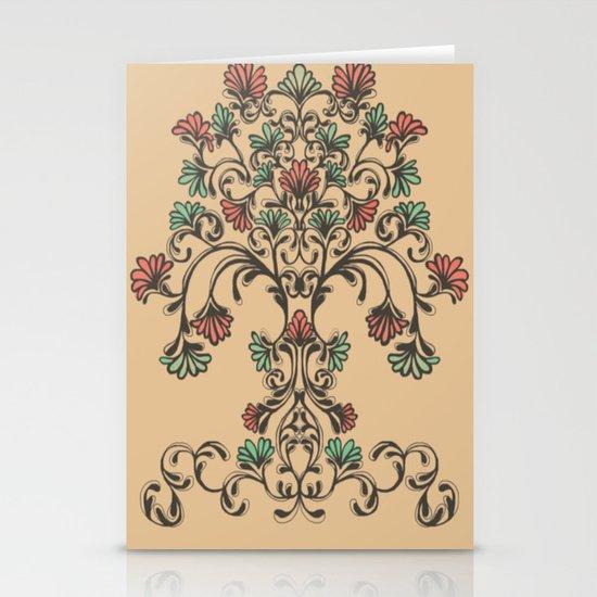 tree pattern  Stationery Card