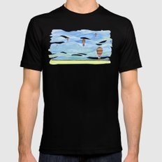 Float Away Black SMALL Mens Fitted Tee