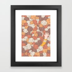Kirk's Trouble With Tribbles (Star Trek) Framed Art Print