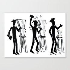 Stickman sculpts Canvas Print