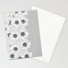 Daisy Grid on Side Stationery Cards